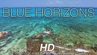 Download BLUE HORIZONS in 4K (nature sounds + music) Relaxation Video - Color Healing Video