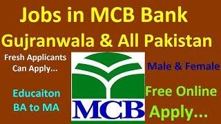Download MCB Bank Job 2019 |Gujranwala Punjab Pakistan Video