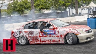 Download G35 Gets Totaled at the Burnyard Video