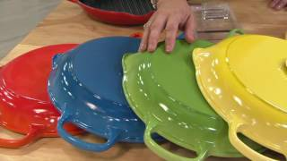 Download Le Creuset Signature 10.25″ Round Cast Iron Grill Pan on QVC Video