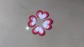 Download सुंदर छोटी रंगोली Beautiful easy quick rangoli design for everyday By Bucketful Creation Video