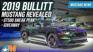 Download 2019 Ford Mustang Bullitt Revealed with 475HP + 2019 GT500 Sneak Peak – Mustang News Video
