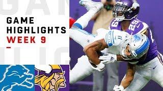 Download Lions vs. Vikings Week 9 Highlights | NFL 2018 Video