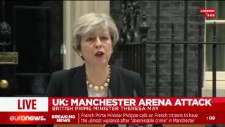 Download LIVE: Theresa May speaks after Manchester Arena attack Video