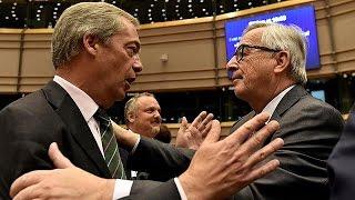 Download Brexit: bitter exchanges inside EU parliament Video
