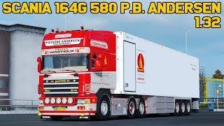 Download ✅ [ETS2 1.32] Scania 164G 580 P.Bjarne Andersen + Trailer 1.32 Video