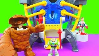 Download Imaginext Alpha Explorer helps Toy Story Buzz Lightyear & Woody gets eaten by Clayface Video