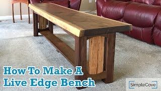 Download How To Make A Live Edge Bench Video