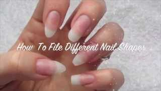 Download How To File Different Nail Shapes-Almond, Stiletto, Coffin, Oval & Square Video
