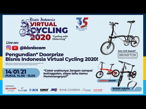 Drawing Doorprize Bisnis Indonesia Virtual Cycling #CyclingwithDistancing