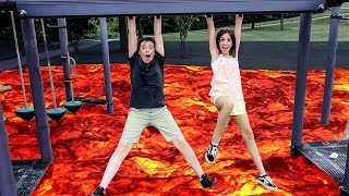 Download THE FLOOR IS LAVA CHALLENGE!! (In Public) Video