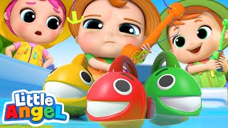 Download 10 Little Fishies Song | Little Angel Nursery Rhymes & Kids Songs Video