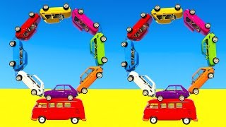 Download LEARN COLOR CARS BUS with Superheroes Cartoon for kids and babies Video