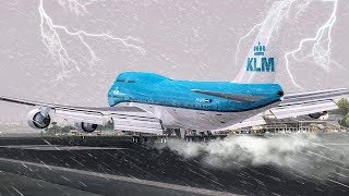 Download Crazy GO AROUND during a Hurricane | New Flight Simulator 2017 [P3D 4.0 - Ultra Realism] Video