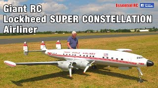 Download GIANT 1:6 scale Radio Controlled (RC) Lockheed SUPER CONSTELLATION TWA 'Star of America' AIRLINER Video