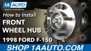 Download How to Install Replace Front Wheel Bearing Hub Assembly 1997-99 Ford F-150 Video