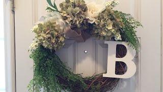 Download Flower Door Wreath DIY - less than 10 minutes!! Video