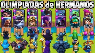 Download OLIMPIADAS de HERMANOS | CUAL ES EL MEJOR DÚO? | RETO CLASH ROYALE | 1vs1 | Clash Royale Olympics Video