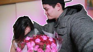 Download 【サプライズ】20才の誕生日にバラ100本プレゼントしたら泣いて喜んでくれた..................。(泣) Video