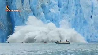 Download Shocking huge glacier calving creates massive tsunami wave 2017 | shock wave Video