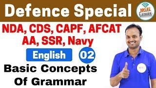 Download 11:00 PM - Defence Special English by Sanjeev Sir | Day #02 | Basic Concepts of Grammar Video
