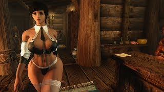 Download Skyrim mods Recolored Bound Weapons, Aradia Secretary and bard music replacer Video