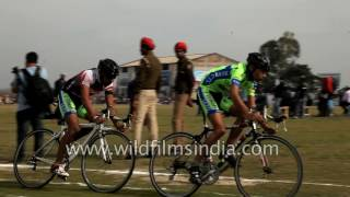 Download Punjabis take part in track cycling race at Rural Olympics 2017 Video
