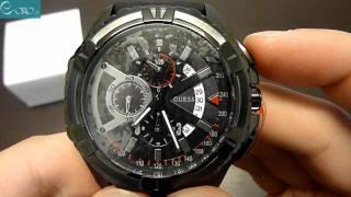 Download GUESS Black Chrono Mens Watch W18540G1 - E-oro.gr Video