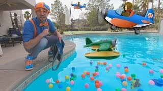 Download Blippi and Airplanes for Kids | Educational Videos for Toddlers and The Seaplane Song Video