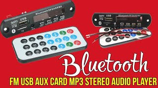 Download Bluetooth Mp3 With Fm-Decoder-Player DC-5-12v Video