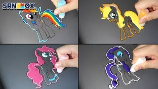 Download My Little Pony Pancake art - Rainbow Dash, Applejack, Pinkie Pie, Rarity Video