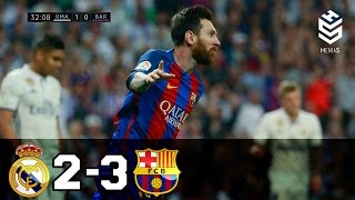 Download Real Madrid vs Barcelona 2-3 ● All Goals and Full Highlights ● English Commentary ● 23-04-2017 HD Video