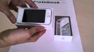 Download original Apple iPhone 4 weiß (weiss/ white) Unboxing Deutsch / German von notebook.de.wmv Video
