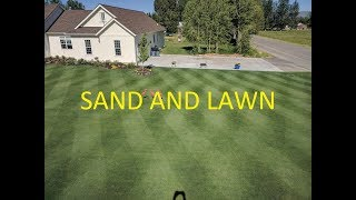 Download Leveling Kentucky Bluegrass lawn with SAND Video