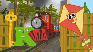 Download Learn about the Letter K - The Alphabet Adventure With Alice And Shawn The Train Video