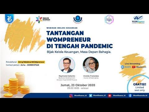 """Webinar Inklusi Keuangan """"Tantangan Wompreneur di Tengah Pandemic"""""""