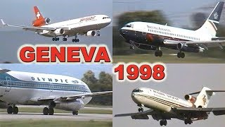 Download GENEVA Airport 20 YEARS AGO (1998) Video