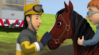 Download Fireman Sam US full episodes   Runaway Horse - Norman is stuck on a horse in sticky mud  Kids Movies Video