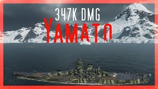 Download Yamato 🇯🇵TOP 10 damage EU 347K - World of Warships Video