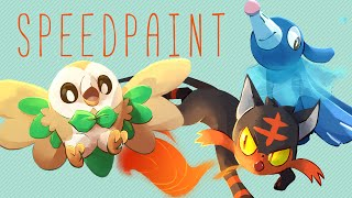 Download Pokemon - Alola Starters [Speedpaint] Video
