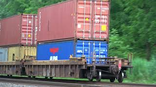 Download Huge CSX Double Stack Train Heads East Video