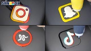 Download Social Media & Popular Apps Pancake art - Instargram, Snapchat, Tik Tok, Musical.ly, WhatsApp Video
