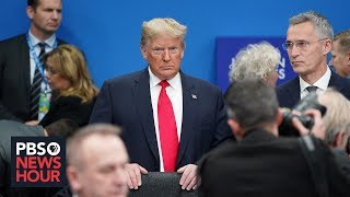 Download Trump leaves NATO summit after drama-filled visit Video