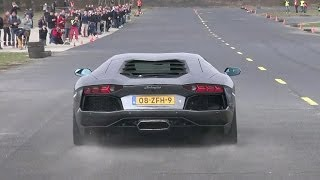 Download Lamborghini Aventador LP700-4 - Dragracing on a closed Airfield! Video