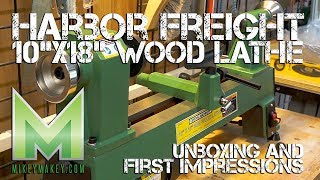 Download Harbor Freight 10″x18″ Wood Lathe Unboxing and First Impressions Video