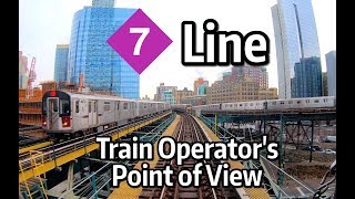 Download ⁴ᴷ⁶⁰ NYC Subway Train Operator's Point of View - The Manhattan-Bound 7 Express Line Video