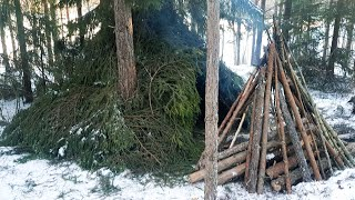 Download Winter Camping in a Shelter | Sweden 2019 Video