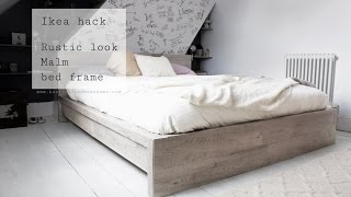 Download Ikea hack, rustic look for Malm bed frame Video