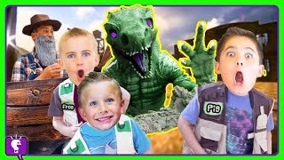 Download JURASSIC DINO ADVENTURE! Surprises with HobbyHickory and Dinosaurs with HobbyKidsTV Video