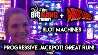 Download BIG Bang Theory Progressive! GREAT RUN on Airplane Slot Machine! Video
